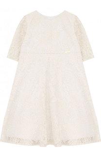 Платье с кружевной отделкой и завышенной талией I Pinco Pallino