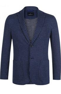 Однобортный хлопковый пиджак Capobianco