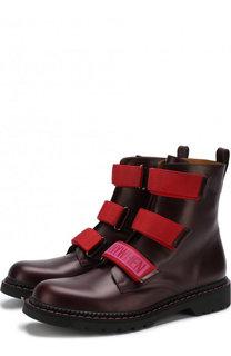Высокие кожаные ботинки Valentino Garavani с застежками велькро Valentino