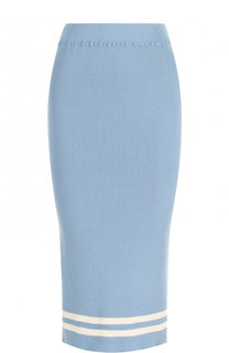 Хлопковая юбка-карандаш фактурной вязки Tak.Ori