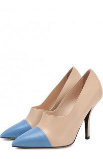 Кожаные туфли Rockocko на шпильке Fendi