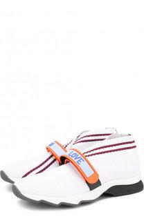 Текстильные кроссовки Rockocko с ремешком Fendi