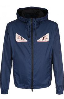 Куртка с принтом на молнии Fendi