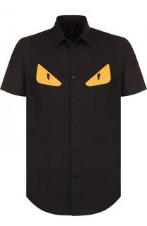 Хлопковая рубашка с короткими рукавами Fendi