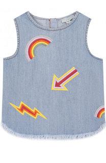 Джинсовый топ с вышивкой Stella McCartney