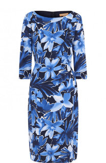 Приталенное платье-миди с принтом Michael Kors Collection