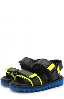 Кожаные сандалии на застежках велькро Gallucci