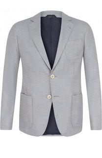 Однобортный хлопковый пиджак Giorgio Armani