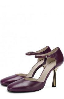 Кожаные туфли на шпильке Marni
