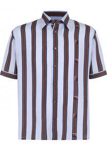 Рубашка из вискозы с короткими рукавами Fendi
