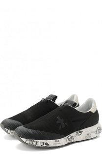 Комбинированные кроссовки Carl-D с текстильной отделкой Premiata