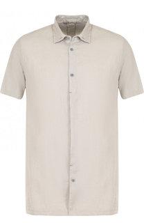 Рубашка с короткими рукавами из смеси льна и хлопка Transit
