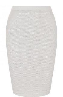 Хлопковая мини-юбка фактурной вязки Cruciani