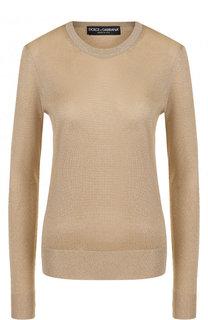 Пуловер из вискозы с круглым вырезом Dolce & Gabbana