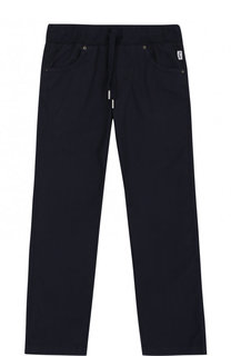 Хлопковые брюки с поясом на кулиске Il Gufo