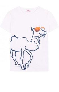 Хлопковая футболка с принтом Il Gufo