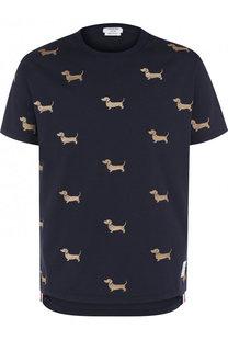 Хлопковая футболка с вышивкой Hector Thom Browne