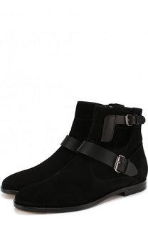 Замшевые ботинки Matt с ремешками Saint Laurent