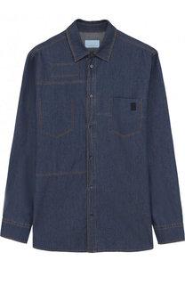 Джинсовая рубашка с контрастной прострочкой Lanvin