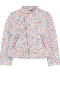 Текстильная куртка с косой молнией и воротником-стойкой Ralph Lauren
