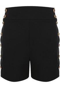 Мини-шорты с контрастными пуговицами и завышенной талией Chloé
