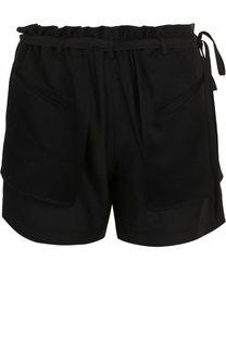 Шелковые мини-шорты с поясом и карманами Valentino
