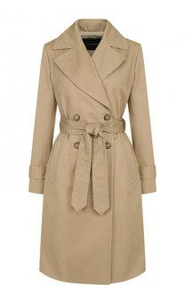 Однотонное хлопковое пальто с поясом Tara Jarmon