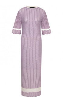 Однотонное платье-миди фактурной вязки Joseph