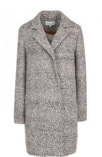 Шерстяное пальто свободного кроя с карманами Escada Sport