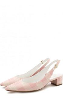 Комбинированные туфли с зауженным мысом Mansur Gavriel