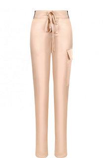 Однотонные шелковые брюки с эластичным поясом Tom Ford
