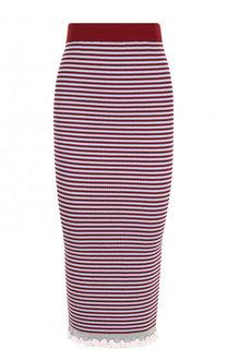 Вязаная юбка-карандаш в полоску Kenzo