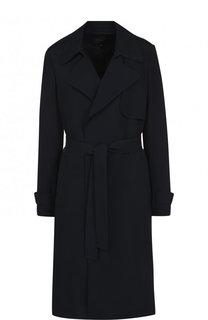 Однотонное пальто с поясом из вискозы Theory
