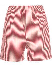 Хлопковые мини-шорты в контрастную полоску Walk of Shame