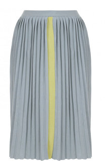 Вязаная плиссированная юбка-миди Marni