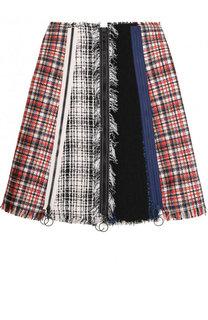 Расклешенная Буклированная мини-юбка Sonia Rykiel