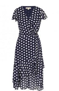 Приталенное платье-миди в горох MICHAEL Michael Kors