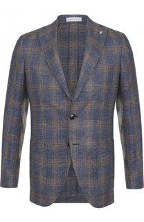 Однобортный пиджак из смеси льна и хлопка Sartoria Latorre