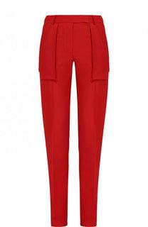 Однотонные брюки прямого кроя со стрелками Valentino