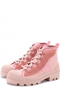 Текстильные ботинки с отделкой из замши Acne Studios