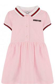 Хлопковое платье с контрастной отделкой Givenchy
