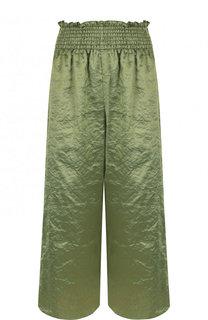 Укороченные расклешенные брюки с эластичным поясом Forte_forte