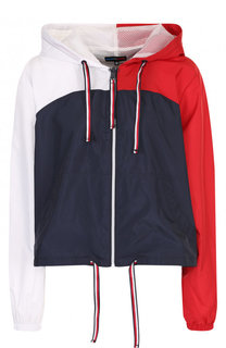 Укороченная куртка свободного кроя с капюшоном Tommy Hilfiger