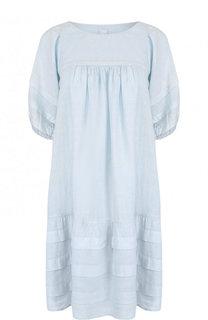 Однотонное льняное платье свободного кроя 120% Lino