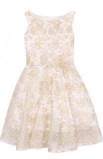 Шелковое платье с декоративной вышивкой David Charles