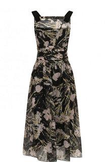 Приталенное платье-миди с принтом No. 21