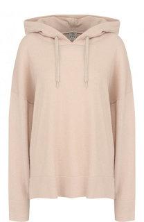 Однотонный кашемировый пуловер с капюшоном FTC
