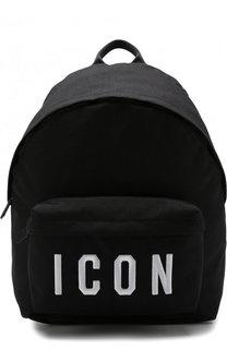 Текстильный рюкзак с внешним карманом на молнии Dsquared2