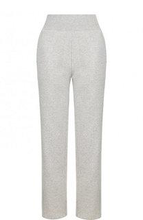 Хлопковые брюки прямого кроя с карманами Adidas by Stella McCartney
