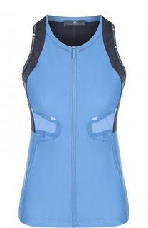 Спортивный топ на молнии с открытыми плечами Adidas by Stella McCartney